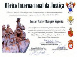 merito internacional da justiça